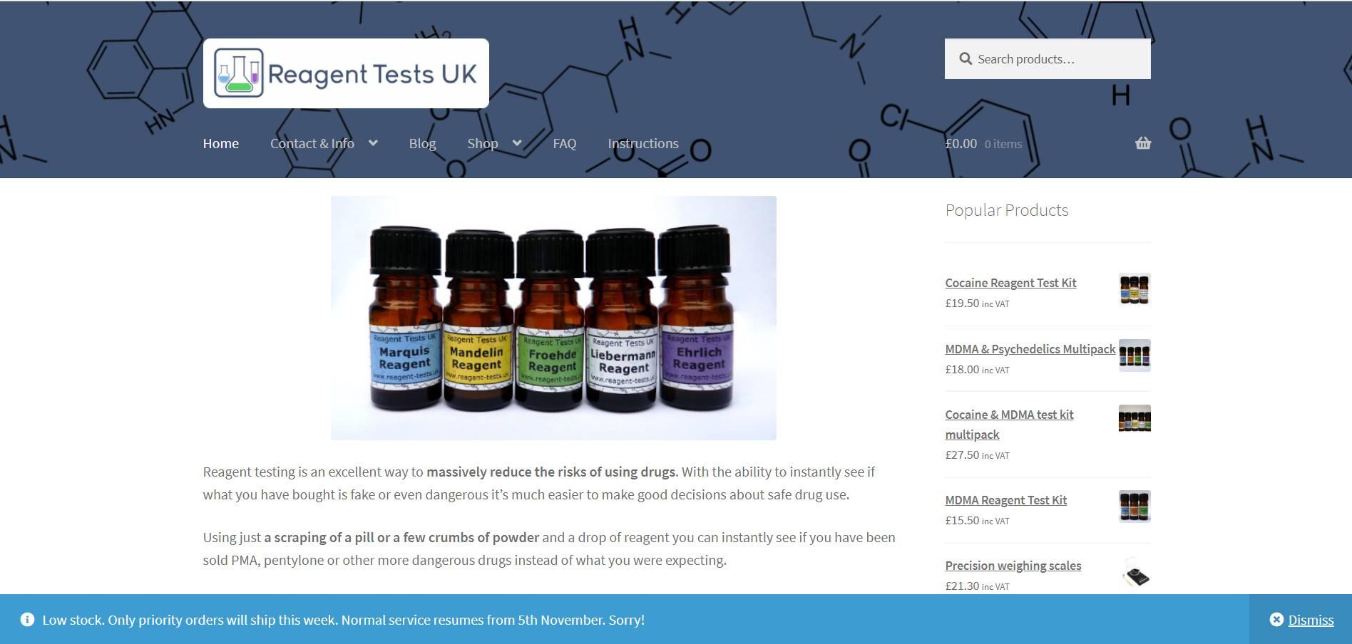 Reagent Tests UK