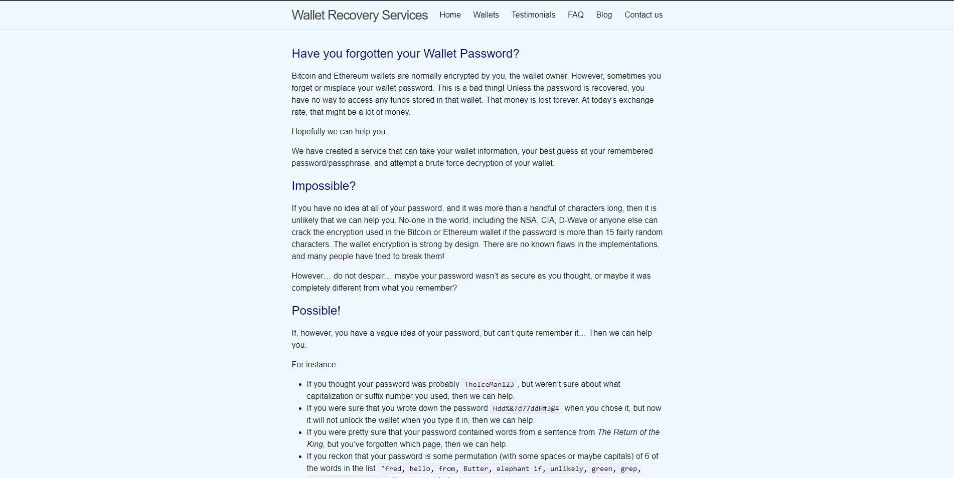 Wallet Recovery Services