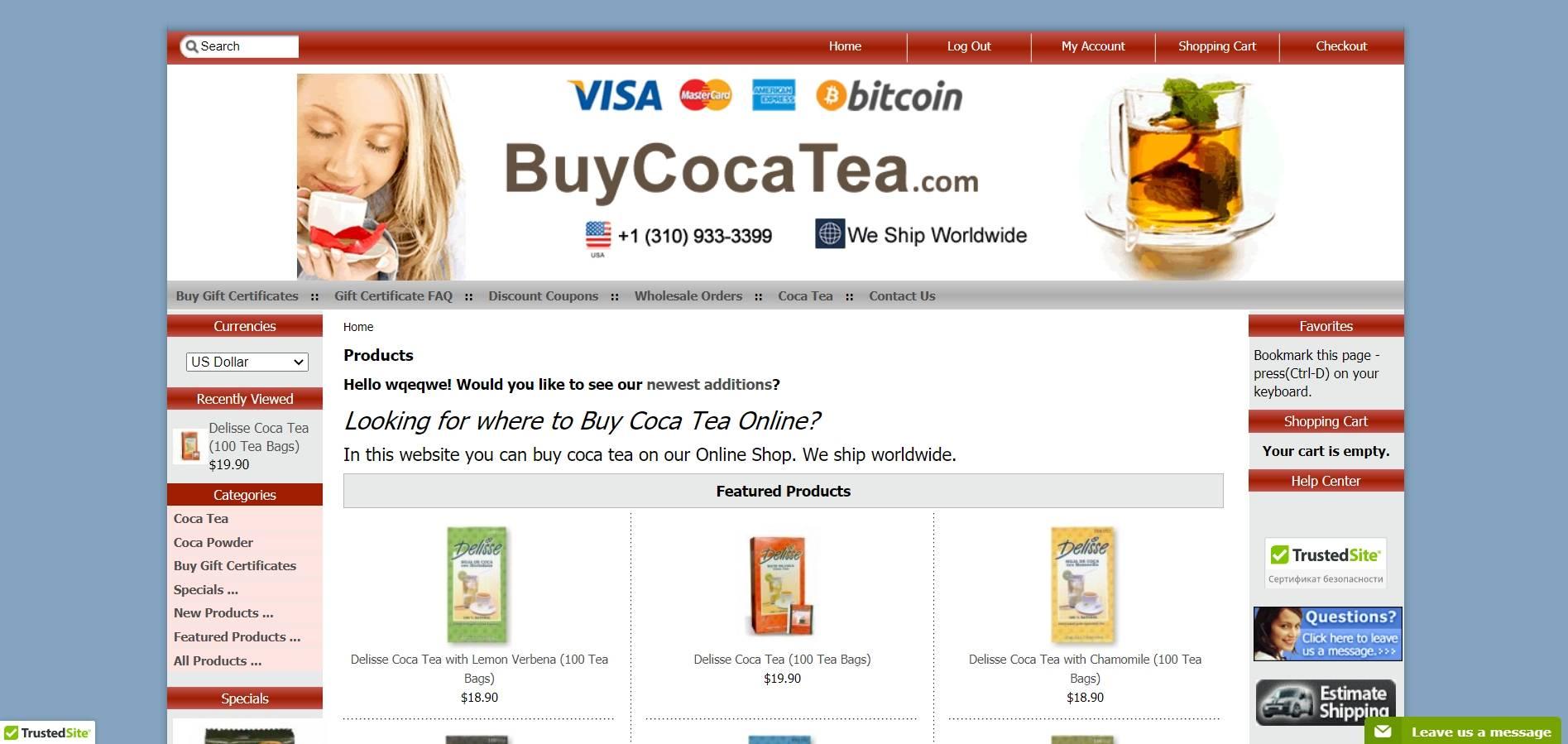 Buy Coca Tea