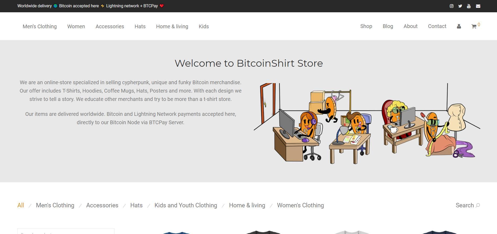 BitcoinShirt Store