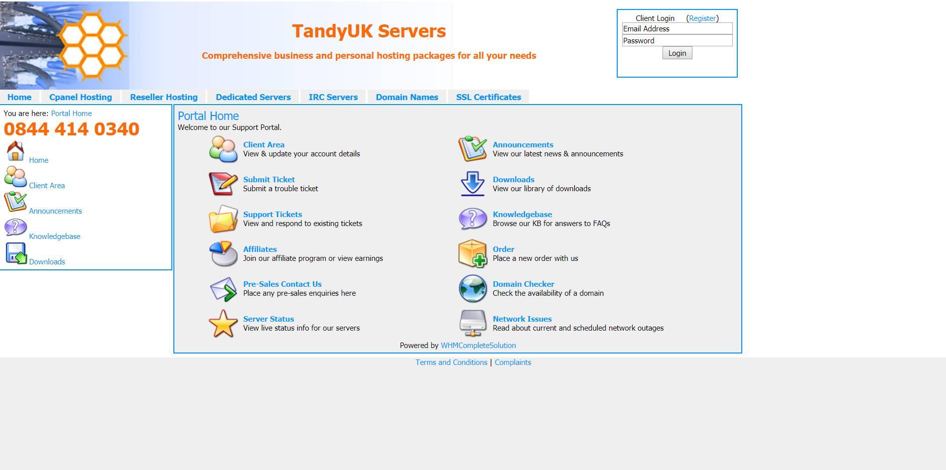 TandyUK Servers