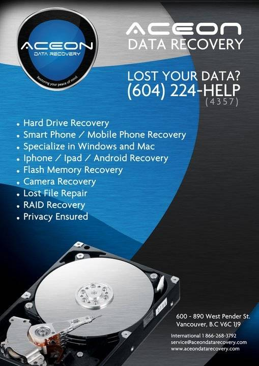 Aceon Data Recovery Vancouver